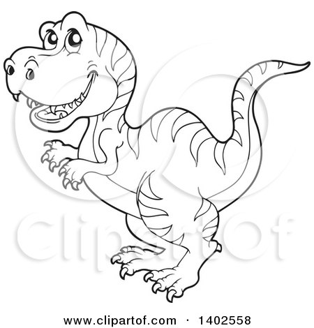 Royalty Free Rf Clipart Illustration Of A Cute Green Tyrannosaurus