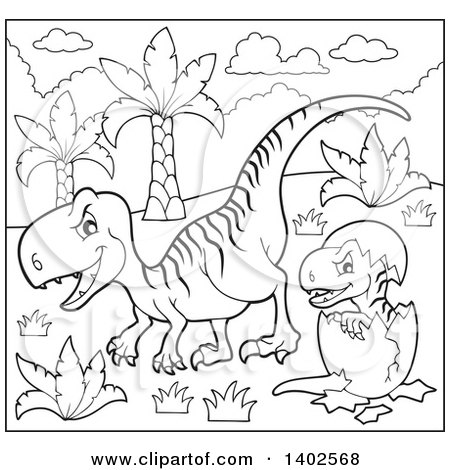 baby velociraptor coloring pages | Royalty Free Stock Illustrations of Printable Coloring ...