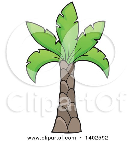 Clipart of a Prehistoric Palm Tree - Royalty Free Vector Illustration by visekart