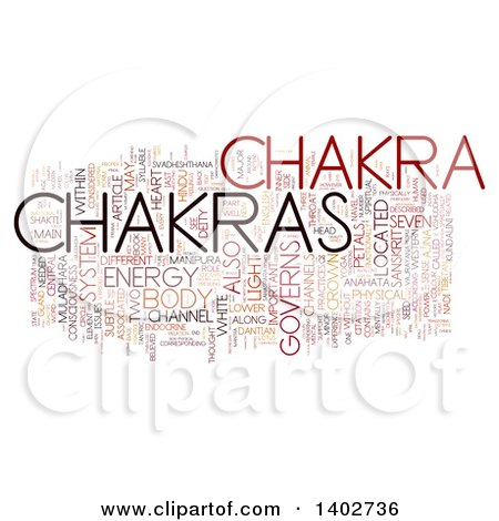 Clipart of a Chakra Tag Word Collage on White - Royalty Free Illustration by MacX