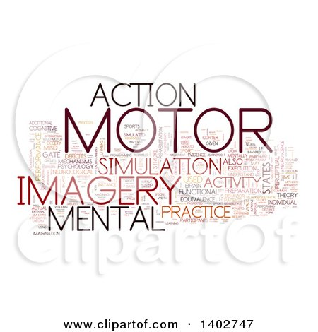 Clipart of a Motor Activity Tag Word Collage on White - Royalty Free Illustration by MacX