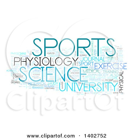 Clipart of a Sports Science Tag Word Collage on White - Royalty Free Illustration by MacX