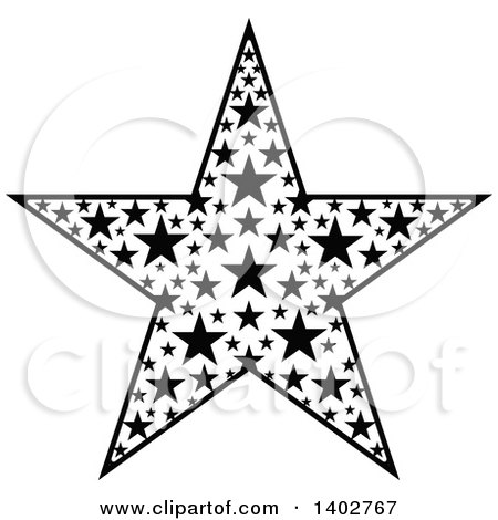 Royalty-Free (RF) Black And White Star Clipart, Illustrations ...