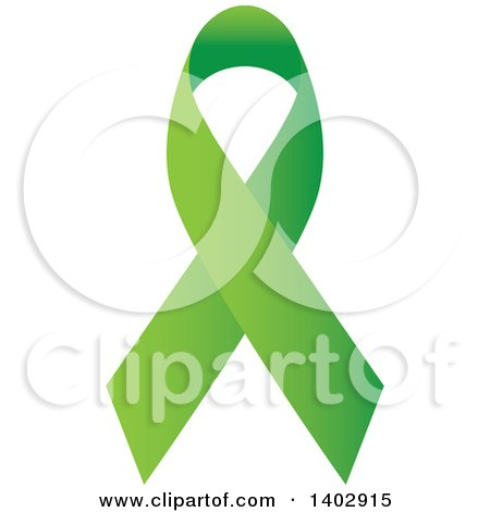 Clipart of a Lime Green Awareness Ribbon - Royalty Free Vector Illustration by ColorMagic
