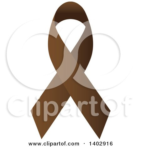 Clipart of a Brown Awareness Ribbon - Royalty Free Vector Illustration by ColorMagic