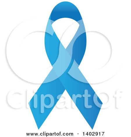 Clipart of a Blue Awareness Ribbon - Royalty Free Vector Illustration by ColorMagic