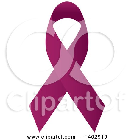 Clipart of a Purple Awareness Ribbon - Royalty Free Vector Illustration by ColorMagic