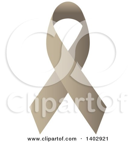 Clipart of a Tan Awareness Ribbon - Royalty Free Vector Illustration by ColorMagic