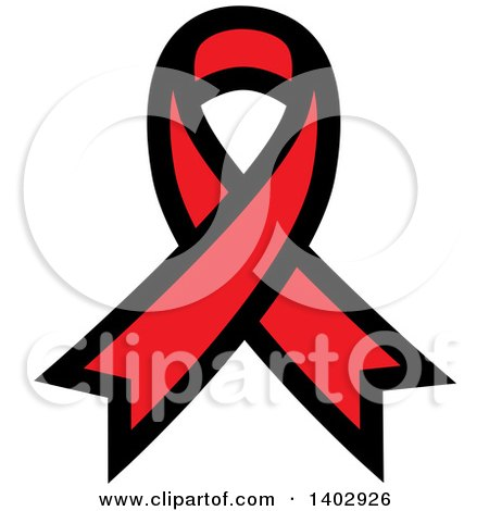 Clipart of a Red Awareness Ribbon - Royalty Free Vector Illustration by ColorMagic