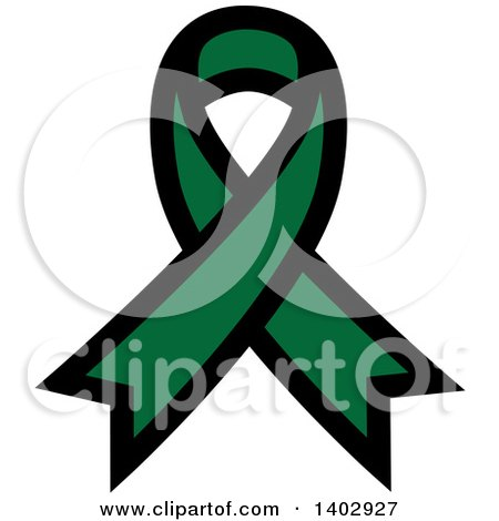 Clipart of a Green Awareness Ribbon - Royalty Free Vector Illustration by ColorMagic