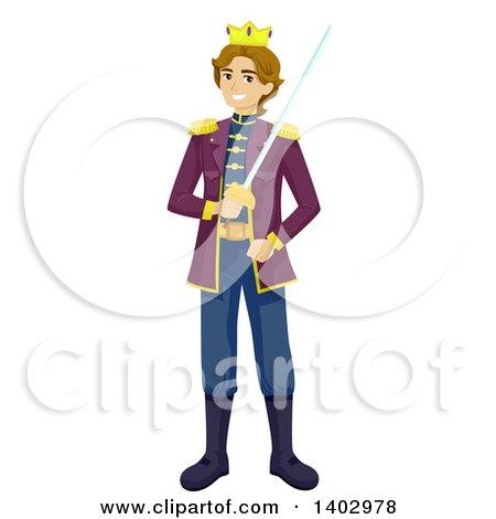 RoyaltyFree RF Clip Art Illustration of a Coloring Page