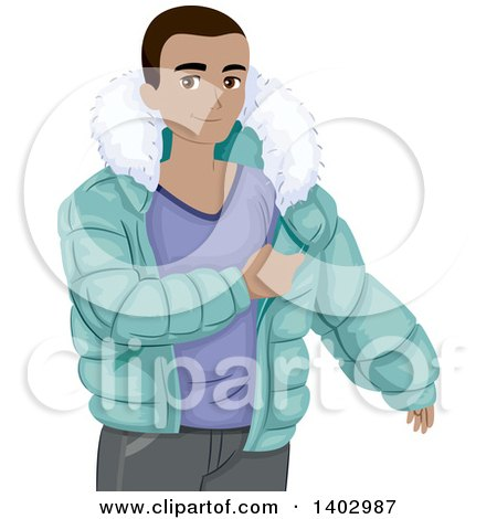 clipart outlined winter clothing and accessories royalty