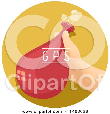 Clipart of a Child's Hand Holding a Balloon Filled with Gas - Royalty Free Vector Illustration by BNP Design Studio