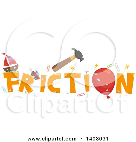 Clipart Of A Science Word Design With Related Items As The