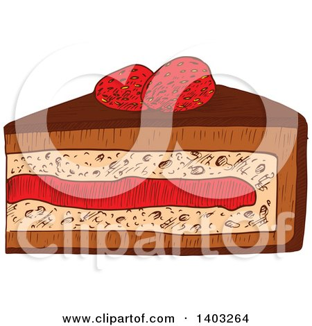 Royalty-Free (RF) Slice Of Cake Clipart, Illustrations, Vector ...