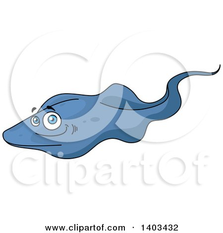 Clipart of a Cartoon Sting Ray - Royalty Free Vector Illustration by Vector Tradition SM