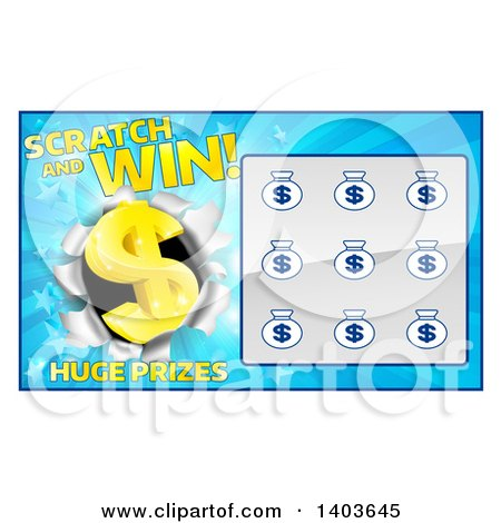 Clipart of a slot machine lottery instant scratch and win preview clipart blue instant scratch and win lottery card design sciox Images