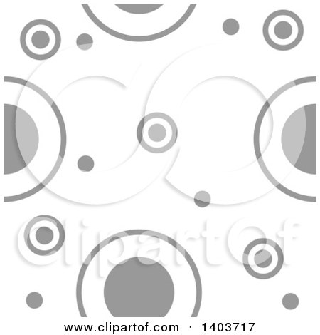 Clipart of a Retro Seamless Grayscale Pattern Background of Circles - Royalty Free Vector Illustration by dero