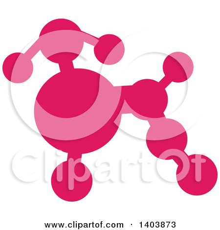 Clipart of a Silhouetted Pink Poodle - Royalty Free Vector Illustration by Cherie Reve