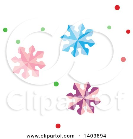 Clipart of Colorful Christmas Snowflakes - Royalty Free Vector Illustration by Cherie Reve