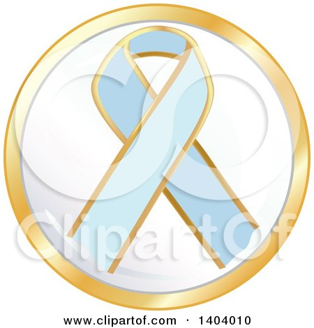 Clipart of a Light Blue Awareness Ribbon Icon - Royalty Free Vector Illustration by inkgraphics