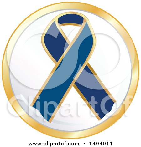 Clipart of a Navy Blue Awareness Ribbon Icon - Royalty Free Vector Illustration by inkgraphics