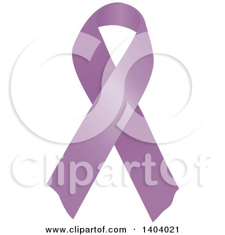 Clipart of a Purple Orchid Testicular Cancer Awareness Ribbon - Royalty Free Vector Illustration by inkgraphics