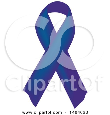 Clipart of a Navy Blue Awareness Ribbon - Royalty Free Vector Illustration by inkgraphics