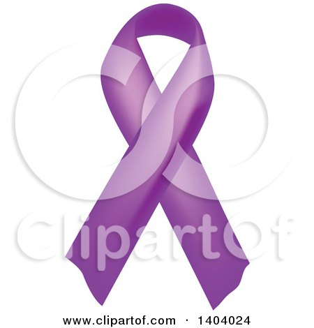 Clipart of a Purple Awareness Ribbon - Royalty Free Vector Illustration by inkgraphics