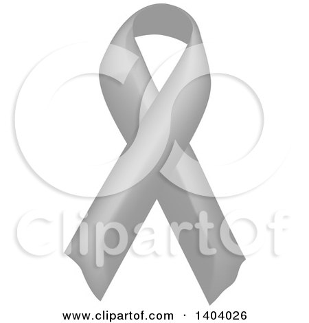 Clipart of a Gray Awareness Ribbon - Royalty Free Vector Illustration by inkgraphics