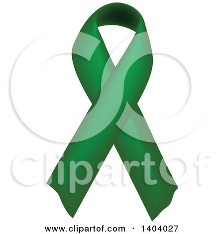 Clipart of a Green Awareness Ribbon - Royalty Free Vector Illustration by inkgraphics