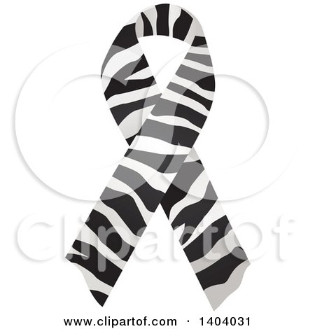 Clipart of a Zebra Print Awareness Ribbon - Royalty Free Vector Illustration by inkgraphics