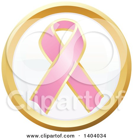 Clipart of a Pink Breast Cancer Awareness Ribbon Icon - Royalty Free Vector Illustration by inkgraphics