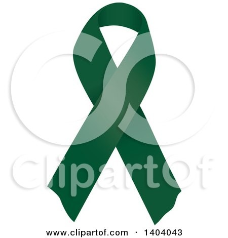 Clipart of an Emerald Green Liver Cancer and Homeopathy Awareness Ribbon - Royalty Free Vector Illustration by inkgraphics