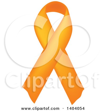 Clipart of an Orange Awareness Ribbon - Royalty Free Vector Illustration by inkgraphics