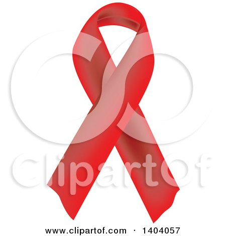 Clipart of a Red Awareness Ribbon - Royalty Free Vector Illustration by inkgraphics