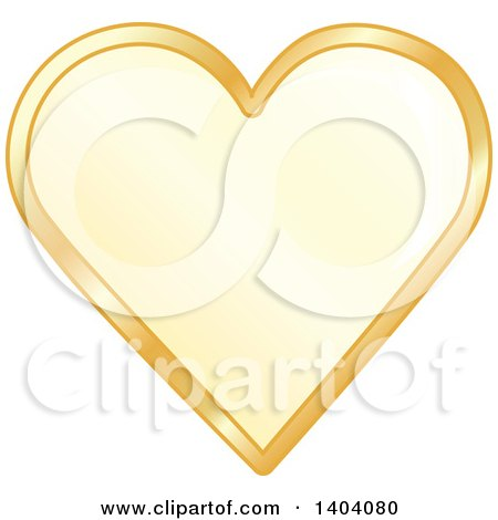 Clipart of a Yellow Heart in a Gold Frame - Royalty Free Vector Illustration by inkgraphics