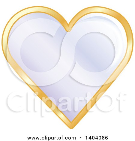 Clipart of a Purple Heart in a Gold Frame - Royalty Free Vector Illustration by inkgraphics