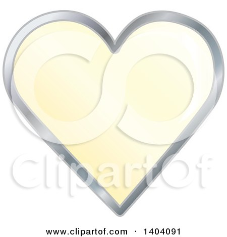 Clipart of a Yellow Heart in a Silver Frame - Royalty Free Vector Illustration by inkgraphics