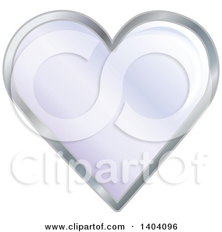 Clipart of a Purple Heart in a Silver Frame - Royalty Free Vector Illustration by inkgraphics