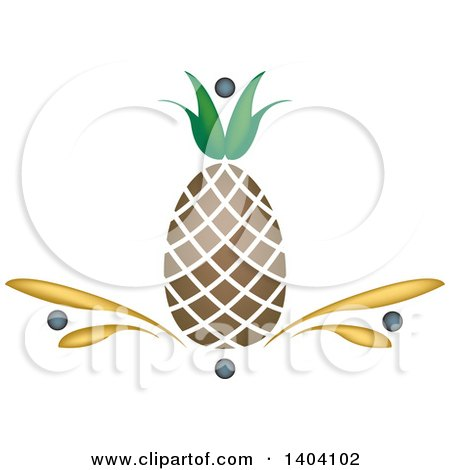 Clipart of a Pineapple Design - Royalty Free Vector Illustration by inkgraphics