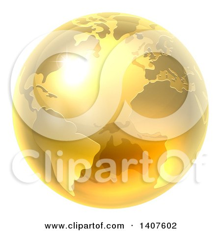 3d Shiny Earth Globe Posters, Art Prints