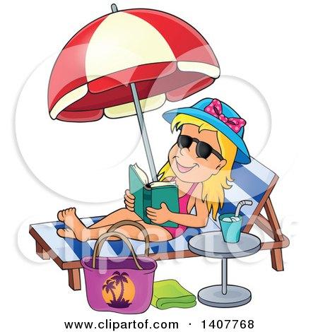 Royalty-Free (RF) Sun Tanning Clipart, Illustrations, Vector Graphics #1