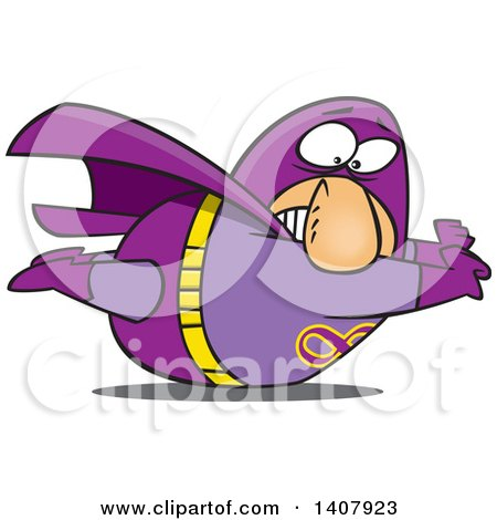 Clipart of a Cartoon Heavy White Male Super Hero Stuck on the Ground - Royalty Free Vector Illustration by toonaday