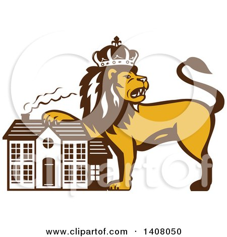 Royalty-Free (RF) King Lion Clipart, Illustrations, Vector Graphics #1