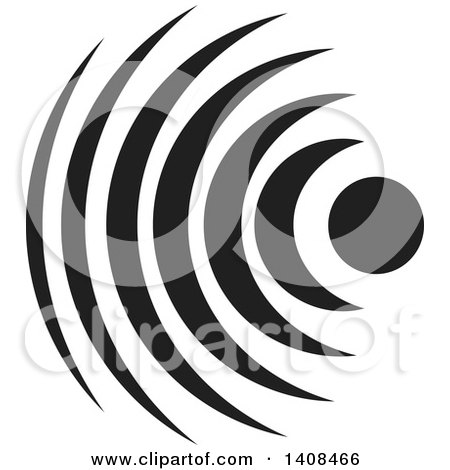 Clipart of a Signal Waves - Royalty Free Vector Illustration by Lal Perera