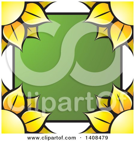 Clipart of a Sunflower Border - Royalty Free Vector Illustration by Lal Perera