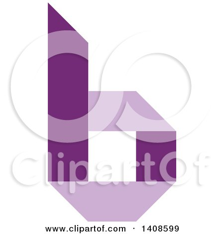 Clipart of a Purple Letter B - Royalty Free Vector Illustration by Lal Perera