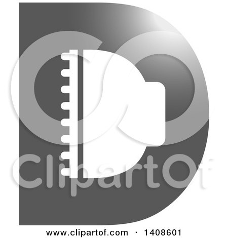 Clipart of a D Shaped LED Light Design - Royalty Free Vector Illustration by Lal Perera