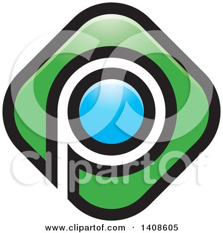 Clipart of a Letter P Design - Royalty Free Vector Illustration by Lal Perera